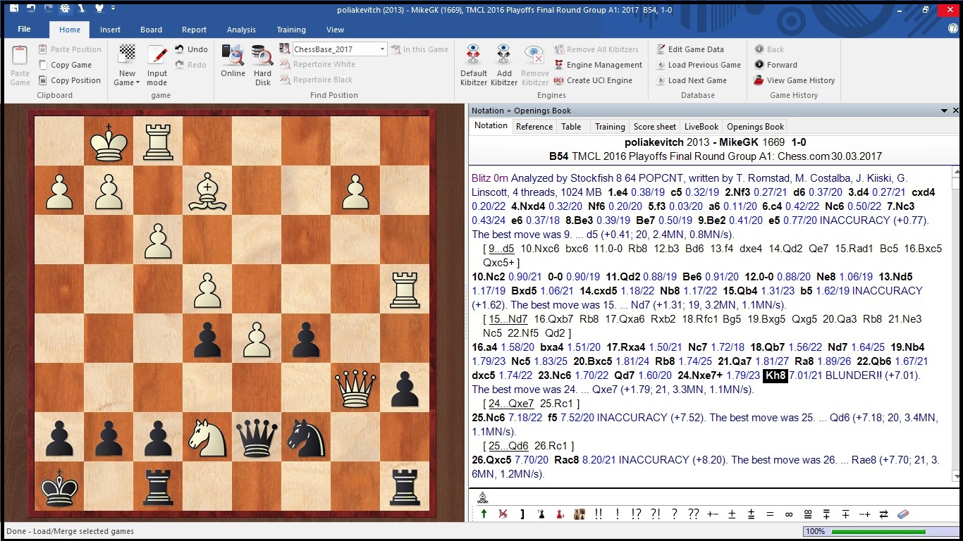Free Creatica Chess Game Analyzer for MS Windows by Arkadi Poliakevitch