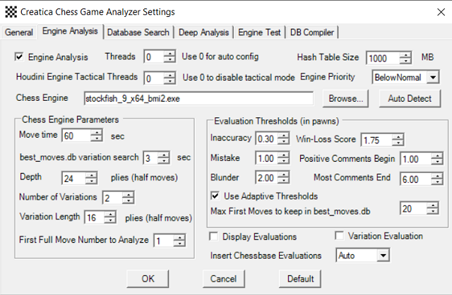 Customize Creatica Chess Game Analyzer